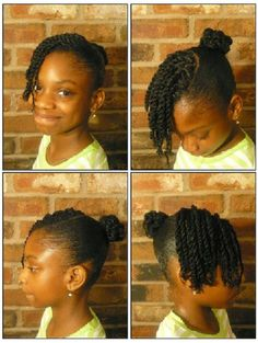 Two strand twists and bun