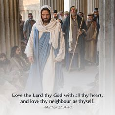 """Thou shalt love the Lord thy God with all thy heart, and with all thy soul, and with all thy mind. This is the first and great commandment. And the second is like unto it, Thou shalt love thy neighbour as thyself. On these two commandments hang all the law and the prophets"" (see Matthew 22:37-40). lds.org/scriptures/nt/matt/22.34-40#p33 Learn more about #JesusChrist facebook.com/173301249409767 and enjoy more from the #HolyBible facebook.com/212128295484505. #ShareGoodness"