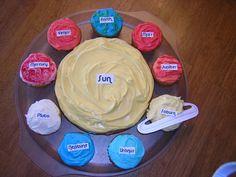 Un ensemble de gâteau&cupcakes système solaire
