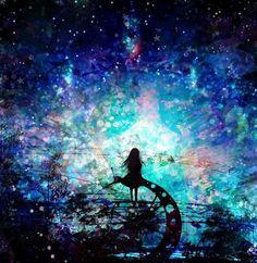 Image uploaded by Eh Allire. Anime Galaxy, Galaxy Art, Landscape Illustration, Illustration Art, Fantasy World, Fantasy Art, Silhouette Art, Fantasy Landscape, Noragami