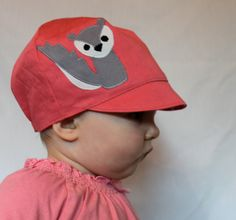 Girls clothes- GIRLS Reversible Squirrel Hat by WeeDees
