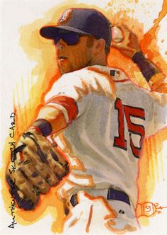 Dustin Pedroia by Luis Diaz