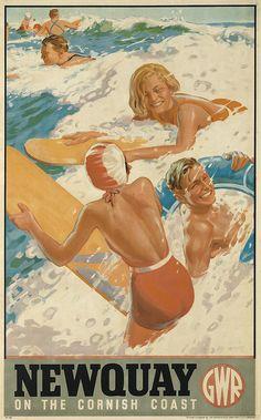 ALFRED LAMBART (1902-1970) NEWQUAY / ON THE CORNISH COAST. 1937. poster