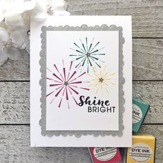 Shine Bright Card by Lexi Daly for Papertrey Ink (May 2018)