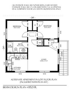 24x24 cabin floor plans with loft home goals pinterest for Garage apartment plans with kitchen