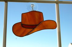 Stained Glass Cowboy Hat by LedByGlass on Etsy, $20.00
