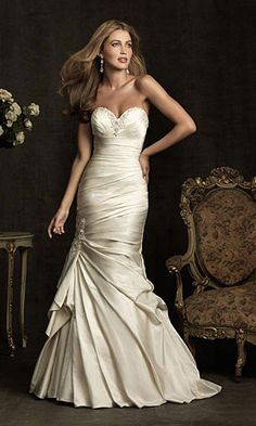 sweetheart wedding dress mermaid