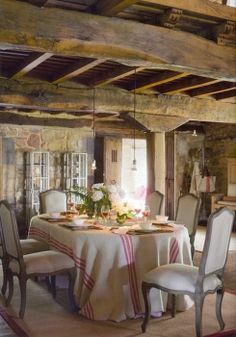 Love the beams and the rustic overall look!