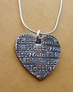 Haiti Necklace-Heart for Haiti-Adoption Fundraiser. $75.00, via Etsy.
