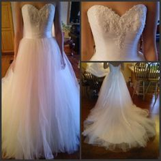 A-line Sleeveless Corset Wedding Dress with Appliques