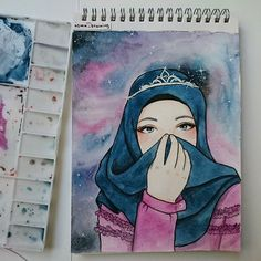 Ilustrasion hijab – Hijab World Colorful Drawings, Art Drawings, Hijab Drawing, Islamic Cartoon, Anime Muslim, Hijab Cartoon, Islamic Girl, Cool Art Projects, Digital Art Girl