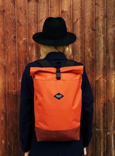 Rolltop backpack for urban cycling, commuting and travels Braasi // czech made