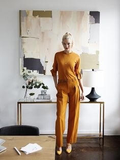 Homepolish and Lulu & Georgia Team Up With Karlie Kloss to Create a Super Stylish Office Space Home Office, City Office, Office Inspo, Smart Art, Stylish Office, Karlie Kloss, Cool House Designs, Mellow Yellow, Architectural Digest