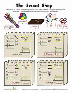 making change coffee shop math math pinterest change math and worksheets. Black Bedroom Furniture Sets. Home Design Ideas