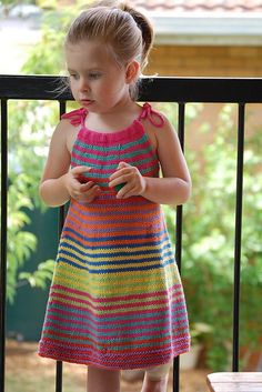 Ravelry: Summer Happy Fun Dress pattern by Jade Fletcher Crochet Dress Girl, Crochet Girls, Crochet Blouse, Cute Crochet, Crochet For Kids, Crochet Baby, Knitting For Kids, Baby Knitting Patterns, Crochet Patterns