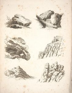 Landscape - Illustration - Rock sketches 1 - Copy.jpg 1,328×1,701 pixels