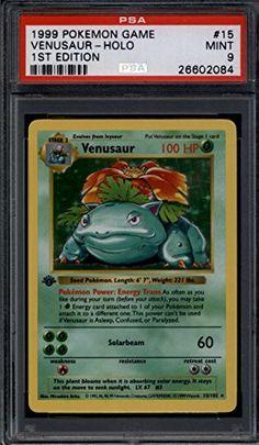 Venusaur 1st Edition Shadowless #15/102 PSA 9 MINT Pokemon Base Set Holo Foil