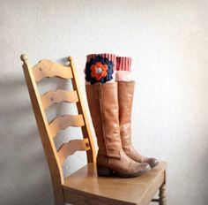 Boho Leg Warmers Women's Boot Socks by BrokenGhostClothing on Etsy,