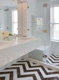 dramatic bathrooom floors | Bathroom Design IAccent on Design I Blog