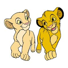 Lion King's Simba & Nala smiling Disney T-Shirt Simba E Nala, Nala Lion King, Baby Simba, Lion King Shirt, Lion King Game, Lion King Movie, Le Roi Lion Disney, Disney Lion King, Cute Disney Drawings