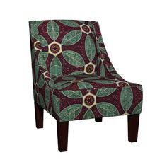 Venda Sloped Arm Chair featuring Turkish Bath Mosaic by ravenous | Roostery Home Decor