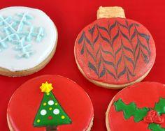 Decorated Round Christmas Sugar Cookies Merry Xmas Kids Cookie Decorating