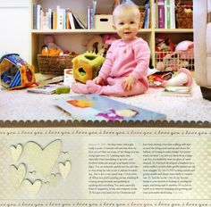 This is how I want to do Kate's 18 month page...for both her album and PL only 6x12 in PL