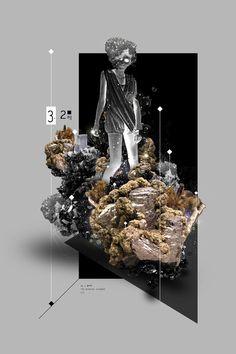 Christoph Ruprecht est un artiste allemand basé à Karlsruhe. Il est également connu sous son pseudonyme «CrispyCrystal». Sa particularité vient de son style, en général très abstrait et riche en éléments graphiquesentremêlés. Si vous souhaitez en voir et en savoir plus, visitez son portfolio, son Curioos et son Behance.
