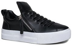 YRU CUTE TO THE CORE GINGER Side Zipper Vented Slit Platform Sneaker 7 * Check this awesome product by going to the affiliate link Amazon.com at the image.