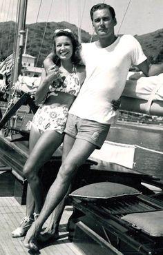 Errol Flynn & wife Lili Damita (c. late 1930′s)