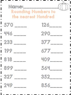 Printables Rounding To The Nearest Hundred Thousand Worksheets place value worksheets places and values on pinterest rounding numbers to the nearest hundred part of 35 page common core aligned packet for
