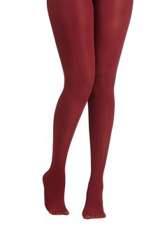 Layer It On Tights in Wine. Enjoying your favorite warm-weather clothes year 'round is a cinch now that you've welcomed these wine-hued tights into your wardrobe! #red #modcloth