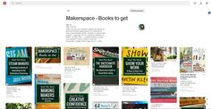 Makerspace-Books to get || Diana Rendina http://pin.it/WipojLp