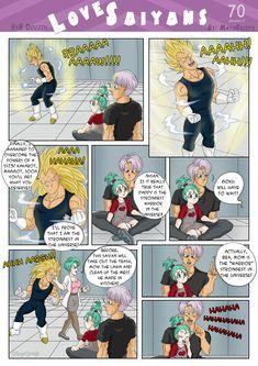Love Saiyans - 70 - Doujin VxB - by mayabriefs on DeviantArt Vegeta And Trunks, Vegeta And Bulma, Dragon Ball Z, Ssj3, Manga, Anime, Halloween, Nerdy, Geek Stuff