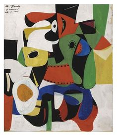Untitled by Arshile Gorky. This painting shows Arshile Gorky's abstract expressionism art style. Robert Motherwell, Willem De Kooning, Jackson Pollock, Tachisme, Franz Kline, Mark Rothko, Jasper Johns, Paul Klee, Modern Art