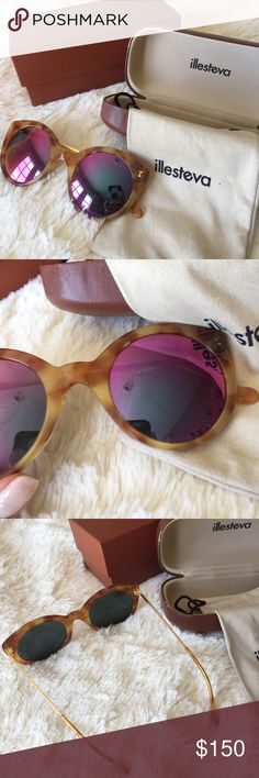 ⚡️SALE⚡️ Illesteva Palm Beach Sunglasses✨ Perfect for summer! Yellow tortoise shell frames✨Light scuffing on lense but good condition. Illesteva will replace lenses! Accepting offers for these;).           ✨✨✨🖤🖤🖤.    ▪️I typically ship same day, Monday through Saturday for items purchased before 1pm!                                                               ▪️All items come from a smoke-free home                            ▪️Thanks for checking out my closet🌟! Illesteva Accessories…