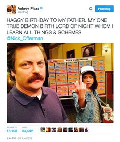 "There Was A Mini ""Parks And Rec"" Reunion For Aubrey Plaza's Birthday"