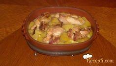 Recept za Pileće pletenice na krompiru. Za spremanje ovog jela neophodno je pripremiti pileći file, slaninu, senf, krompir, ulje, so, biber, začin.