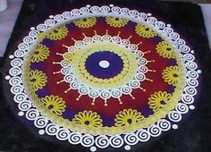 Please find 30 Rangoli designs which you can make use of in all occasions. The occasions can be Diwali, Ugadi or Gudi Padwa, Pongal, Corpo. Simple Rangoli Designs Images, Rangoli Designs Flower, Rangoli Border Designs, Colorful Rangoli Designs, Rangoli Ideas, Rangoli Designs Diwali, Diwali Rangoli, Flower Rangoli, Beautiful Rangoli Designs