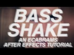 ▶ Bass Shake - Adobe After Effects tutorial - YouTube