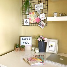 Today I've teamed up with The Reject Shop to share with you all how easy it is to do a quick office makeover for Mum this Mothers Day. Office Makeover, Home Office Space, Gallery Wall, Stylists, Frame, Shopping, Home Decor, Picture Frame, Decoration Home