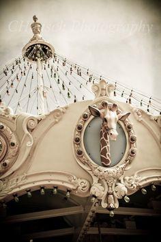 Giraffe Carousel Print