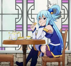 The perfect AquaKonosuba Anime Bored Animated GIF for your conversation. Konosuba Anime, Anime Japan, Animated Icons, Animated Gif, Konosuba Wallpaper, Manga, Aqua Konosuba, Otaku Meme, Fanart