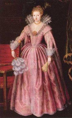 Portret van Anna Johanna van Nassau -Siegen (1594-1636). Anoniem