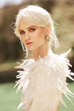 Wedding Dress With Feathers, Ladylike Style, Winter Springs, Bridal Style, Dress Skirt, Fashion Dresses, Feminine, Costumes, Wedding Dresses