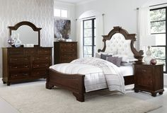 Amish Florence Five Piece Bedroom Set Formal style is crafted from solid wood with the exceptional Florence Five Piece Bedroom Set. Choose wood, finish, hardware and custom features to make it your own. Amish made in America. #bedroomsets #Amishbeds #Amishfurniture