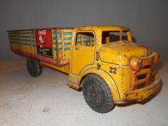 Vintage Marx Toys Pressed Steel Coca-Cola Coke Truck w/Lumar Tires