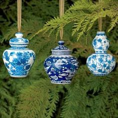 The perfect gift! Blue-and-White Christmas Ornament Set - Christmas Ornaments - Holiday - The Met Store Holmström Holmström Dieken White Christmas Ornaments, Blue Christmas, Christmas Holidays, Christmas Decorations, Holiday Decor, Chinese Christmas, Southern Christmas, Christmas China, Christmas Place