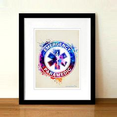 Name -------------------------------------- Watercolor Paramedic The Star of Life represents emergency medical services units and personnel. ------------------------- About the Prints ------------------------------- This is an original artwork created