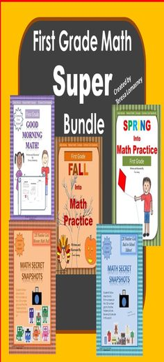 First Grade Super Bundle is Core Aligned .This Super Pack includes printables with answers, for first grade math, that can be used throughout the school year. Over 170 pages with answers.  Just $13.00 for this Super Bundle!